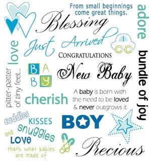 BR001 Basic Rub-on New Baby Boy