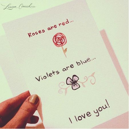 v day card