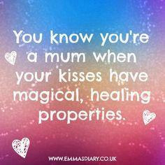 mum kisses
